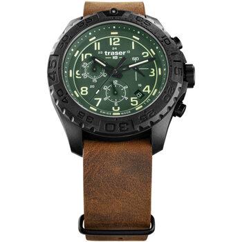 Relojes & Joyas Hombre Relojes analógicos Traser H3 109047, Quartz, 44mm, 20ATM Negro