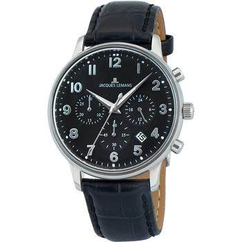 Relojes & Joyas Hombre Relojes analógicos Jacques Lemans N-209ZI, Quartz, 40mm, 5ATM Plata