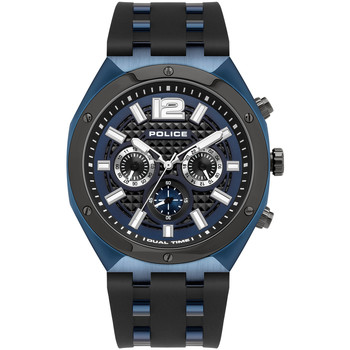 Relojes & Joyas Hombre Relojes analógicos Police PL15995JSBLU.03P, Quartz, 48mm, 10ATM Azul
