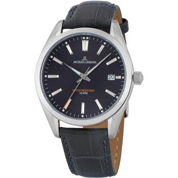 Relojes & Joyas Hombre Relojes analógicos Jacques Lemans 1-1859A, Quartz, 40mm, 10ATM Plata
