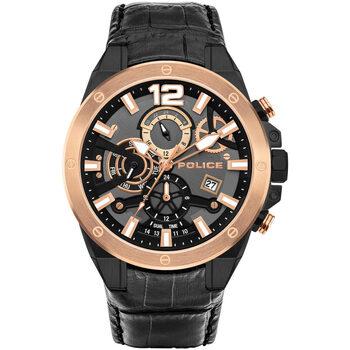 Relojes & Joyas Hombre Relojes analógicos Police PL15711JSBR.61, Quartz, 47mm, 3ATM Negro