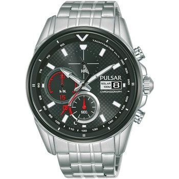 Relojes & Joyas Hombre Relojes analógicos Pulsar PZ6027X1, Quartz, 44mm, 10ATM Plata