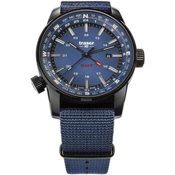 Relojes & Joyas Hombre Relojes analógicos Traser H3 109034, Quartz, 46mm, 10ATM Negro