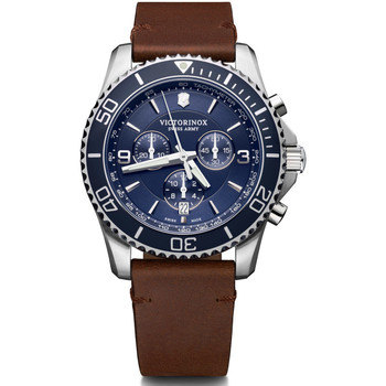 Relojes & Joyas Hombre Relojes analógicos Victorinox 241865, Quartz, 43mm, 10ATM Plata