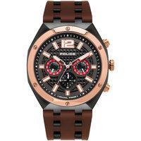 Relojes & Joyas Hombre Relojes analógicos Police PL15995JSBR.61P, Quartz, 48mm, 10ATM Negro