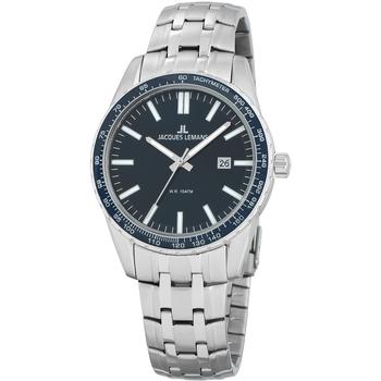 Relojes & Joyas Hombre Relojes analógicos Jacques Lemans 1-2022I, Quartz, 44mm, 10ATM Plata