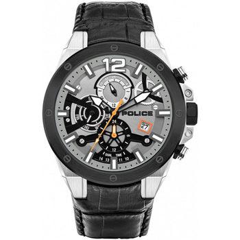 Relojes & Joyas Hombre Relojes analógicos Police PL15711JSTB.04, Quartz, 47mm, 5ATM Plata