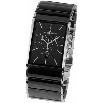 Relojes & Joyas Hombre Relojes analógicos Jacques Lemans 1-1941A, Quartz, 35mm, 5ATM Plata
