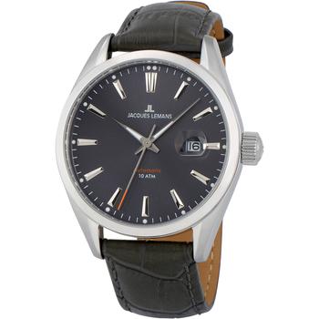 Relojes & Joyas Hombre Relojes analógicos Jacques Lemans 1-1846A, Automatic, 42mm, 10ATM Plata