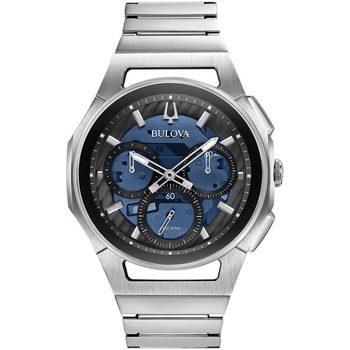 Relojes & Joyas Hombre Relojes analógicos Bulova 96A205, Quartz, 44mm, 3ATM Plata