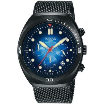 Relojes & Joyas Hombre Relojes analógicos Pulsar PT3951X2, Quartz, 42mm, 10ATM Negro