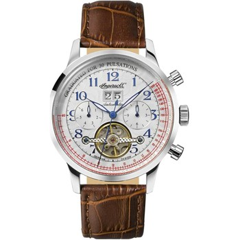 Relojes & Joyas Hombre Relojes analógicos Ingersoll IN2002WH, Automatic, 44mm, 5ATM Plata