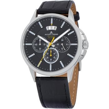 Relojes & Joyas Hombre Relojes analógicos Jacques Lemans 1-1542A, Quartz, 42mm, 10ATM Plata