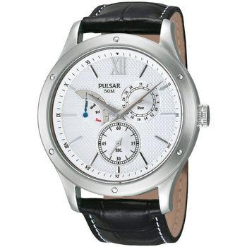 Relojes & Joyas Hombre Relojes analógicos Pulsar PQ7005X1, Quartz, 43mm, 5ATM Plata