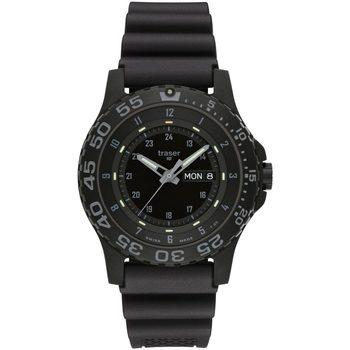 Relojes & Joyas Hombre Relojes analógicos Traser H3 104207, Quartz, 45mm, 20ATM Negro