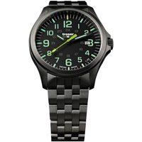 Relojes & Joyas Hombre Relojes analógicos Traser H3 107869, Quartz, 42mm, 10ATM Negro