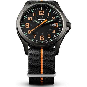 Relojes & Joyas Hombre Relojes analógicos Traser H3 107425, Quartz, 42mm, 10ATM Negro