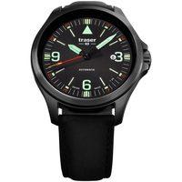 Relojes & Joyas Hombre Relojes analógicos Traser H3 108075, Automatic, 42mm, 10ATM Negro