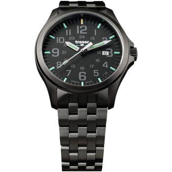 Relojes & Joyas Hombre Relojes analógicos Traser H3 107868, Quartz, 42mm, 10ATM Negro