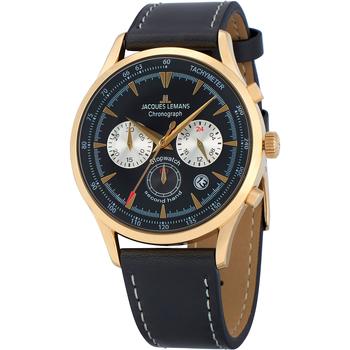 Relojes & Joyas Hombre Relojes analógicos Jacques Lemans 1-2068I, Quartz, 41mm, 5ATM Oro