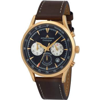 Relojes & Joyas Hombre Relojes analógicos Jacques Lemans 1-2068K, Quartz, 41mm, 5ATM Oro