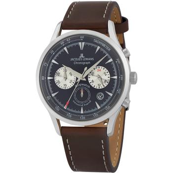 Relojes & Joyas Hombre Relojes analógicos Jacques Lemans 1-2068C, Quartz, 41mm, 5ATM Plata