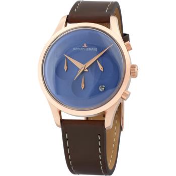 Relojes & Joyas Hombre Relojes analógicos Jacques Lemans 1-2067G, Quartz, 38mm, 5ATM Oro