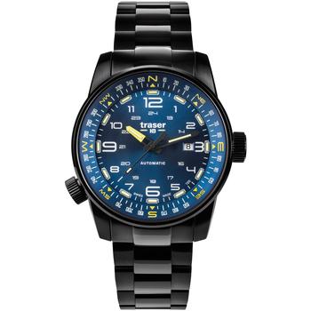 Relojes & Joyas Hombre Relojes analógicos Traser H3 109523, Automatic, 46mm, 10ATM Negro