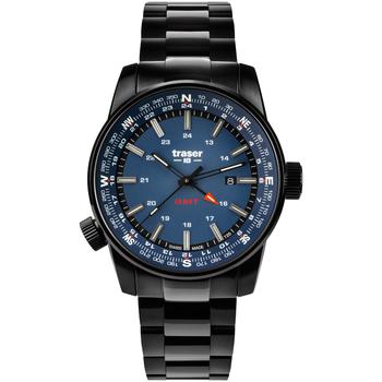Relojes & Joyas Hombre Relojes analógicos Traser H3 109524, Quartz, 46mm, 10ATM Negro