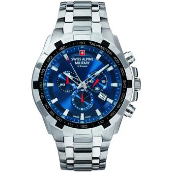 Relojes & Joyas Hombre Relojes analógicos Swiss Alpine Military 7043.9135, Quartz, 46mm, 10ATM Plata