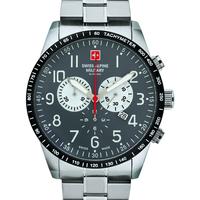 Relojes & Joyas Hombre Relojes analógicos Swiss Alpine Military 7082.9138, Quartz, 45mm, 10ATM Plata