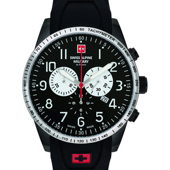 Relojes & Joyas Hombre Relojes analógicos Swiss Alpine Military 7082.9877, Quartz, 45mm, 10ATM Negro