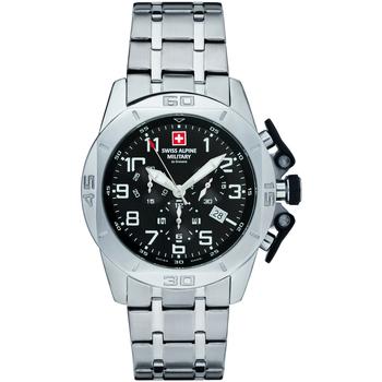 Relojes & Joyas Hombre Relojes analógicos Swiss Alpine Military 7063.9137, Quartz, 45mm, 10ATM Plata