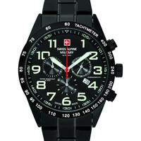 Relojes & Joyas Hombre Relojes analógicos Swiss Alpine Military 7047.9177, Quartz, 43mm, 10ATM Negro