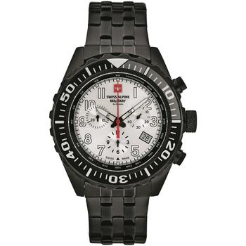 Relojes & Joyas Hombre Relojes analógicos Swiss Alpine Military 7076.9172, Quartz, 44mm, 10ATM Negro