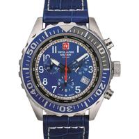Relojes & Joyas Hombre Relojes analógicos Swiss Alpine Military 7076.9535, Quartz, 44mm, 10ATM Plata