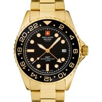 Relojes & Joyas Hombre Relojes analógicos Swiss Alpine Military 7052.1117, Quartz, 42mm, 10ATM Oro