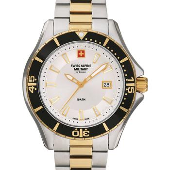 Relojes & Joyas Hombre Relojes analógicos Swiss Alpine Military 7040.1142, Quartz, 45mm, 10ATM Plata