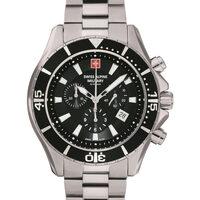Relojes & Joyas Hombre Relojes analógicos Swiss Alpine Military 7040.9137, Quartz, 46mm, 10ATM Plata