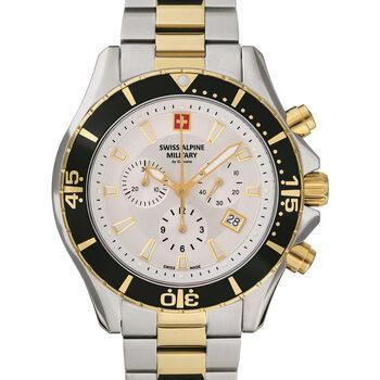 Relojes & Joyas Hombre Relojes analógicos Swiss Alpine Military 7040.9142, Quartz, 46mm, 10ATM Plata