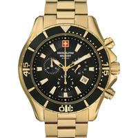 Relojes & Joyas Hombre Relojes analógicos Swiss Alpine Military 7040.9117, Quartz, 45mm, 10ATM Oro