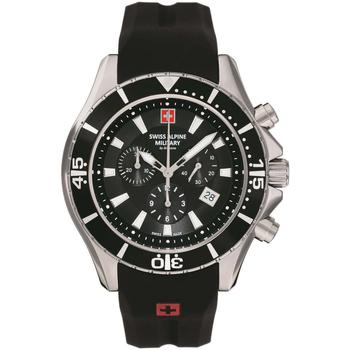 Relojes & Joyas Hombre Relojes analógicos Swiss Alpine Military 7040.9837, Quartz, 45mm, 10ATM Plata
