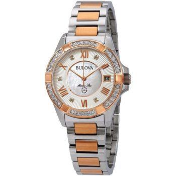 Relojes & Joyas Mujer Relojes analógicos Bulova 98R234, Quartz, 32mm, 10ATM Plata