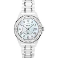 Relojes & Joyas Mujer Relojes analógicos Bulova 98P172, Quartz, 37mm, 10ATM Plata