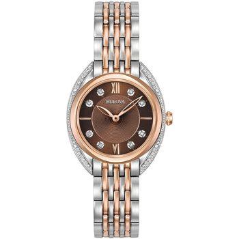 Relojes & Joyas Mujer Relojes analógicos Bulova 98R230, Quartz, 30mm, 3ATM Plata