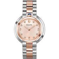 Relojes & Joyas Mujer Relojes analógicos Bulova 98P174, Quartz, 35mm, 3ATM Plata