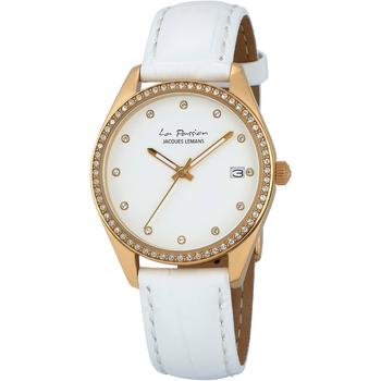 Relojes & Joyas Mujer Relojes analógicos Jacques Lemans LP-133D, Quartz, 35mm, 10ATM Oro
