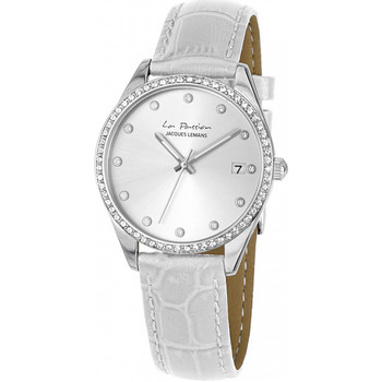 Relojes & Joyas Mujer Relojes analógicos Jacques Lemans LP-133B, Quartz, 35mm, 10ATM Plata