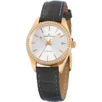 Relojes & Joyas Mujer Relojes analógicos Jacques Lemans 1-2085C, Quartz, 30mm, 10ATM Oro