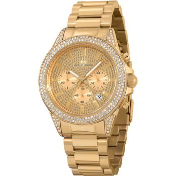 Relojes & Joyas Mujer Relojes analógicos Jacques Lemans 1-2051C, Quartz, 42mm, 10ATM Oro